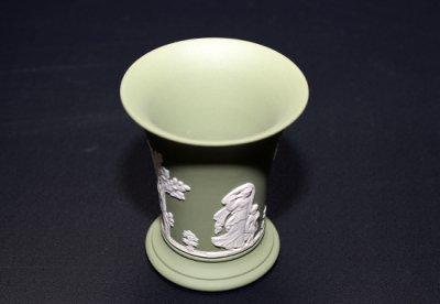 ウェッジウッド/WEDGWOOD ジャスパー/Jasper セージグリーン/Sage Green ギリシャ神話 フラワーベース(花瓶)の写真No.2