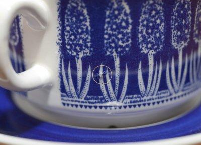 ◇ゲフレ/Gefle ウプサラエクビー/Upsala Ekeby 青いヒヤシンス/Bla Hyacint ティーカップ&ソーサーの写真No.7
