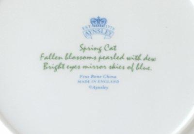◇エインズレイ/Aynsley The Four Seasons 春/Spring キャットプレートの写真No.4
