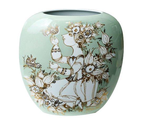 【送料無料】ローゼンタール/Rosenthal Bjorn Wiinblad フラワーベース(花瓶)22cm