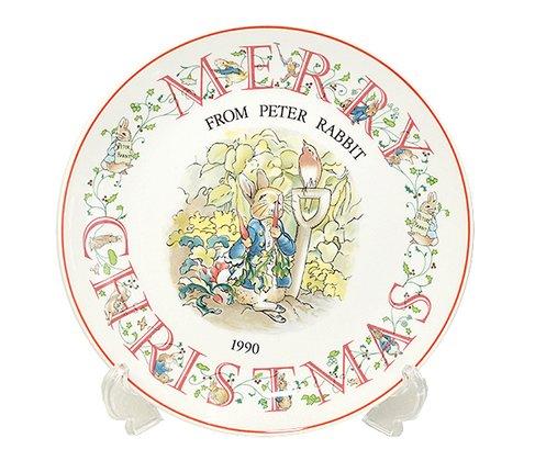 ウェッジウッド/WEDGWOOD ピーターラビット/Peter Rabbit(旧刻印) クリスマスプレート 1990年の写真