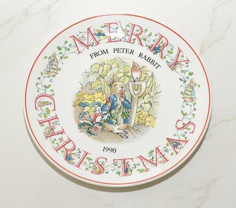 ウェッジウッド/WEDGWOOD ピーターラビット/Peter Rabbit(旧刻印) クリスマスプレート 1990年の写真No.2