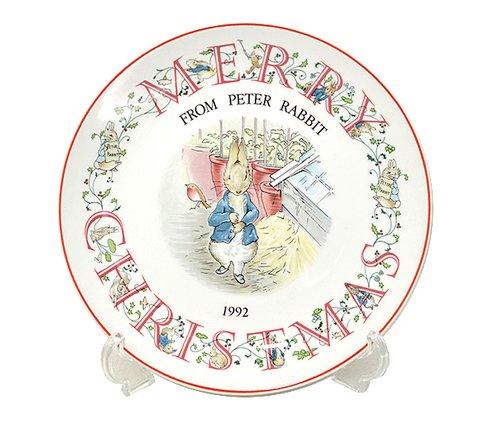ウェッジウッド/WEDGWOOD ピーターラビット/Peter Rabbit(旧刻印) クリスマスプレート 1992年の写真