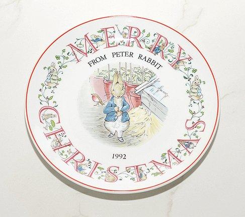 ウェッジウッド/WEDGWOOD ピーターラビット/Peter Rabbit(旧刻印) クリスマスプレート 1992年の写真No.2