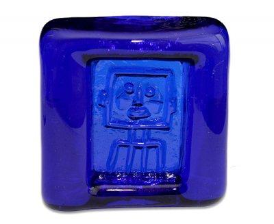 ◇ボダ/Boda Erik Hoglund ロボット/Robot コバルトブルー/Cobalt Blue アッシュトレイ 8cmの写真