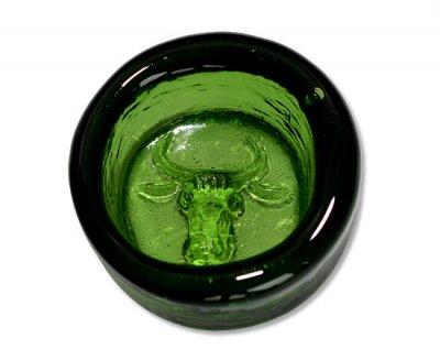◇ボダ/Boda Erik Hoglund 牛/Cow グリーン/Green アッシュトレイ 7cmの写真
