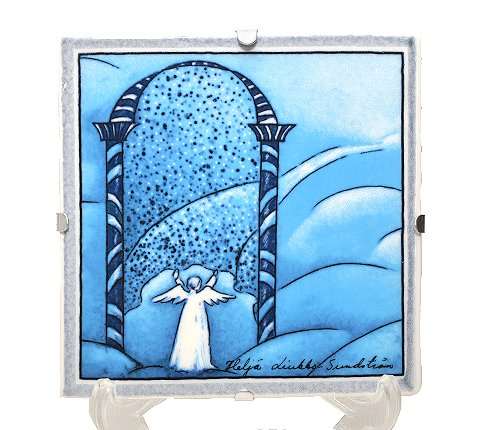 【送料無料】【美品】ARABIA アラビア ヘルヤ 12cm 陶板画 2000年 天国の門  アラビア 食器の写真