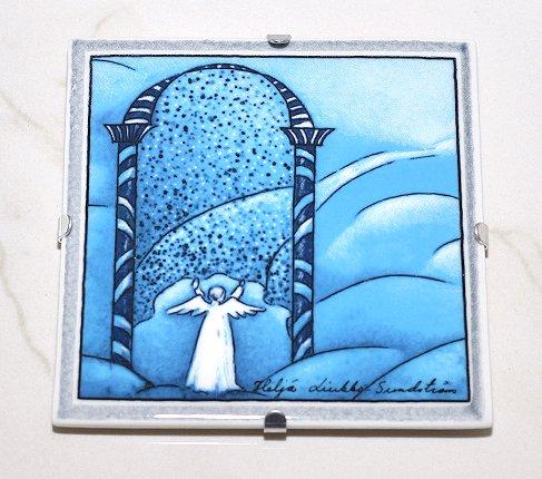 【送料無料】【美品】ARABIA アラビア ヘルヤ 12cm 陶板画 2000年 天国の門  アラビア 食器の写真No.2