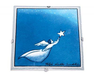 【セール】【送料無料】【美品】アラビア/ARABIA Helja Liukko Sundstrom フライング・エンジェル/Flying Angel 陶板画 12cm/200…