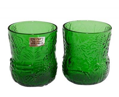 【送料無料】アラビア/ARABIA ファウナ/Fauna グリーン/Green ショットグラス 60ml 2点セット