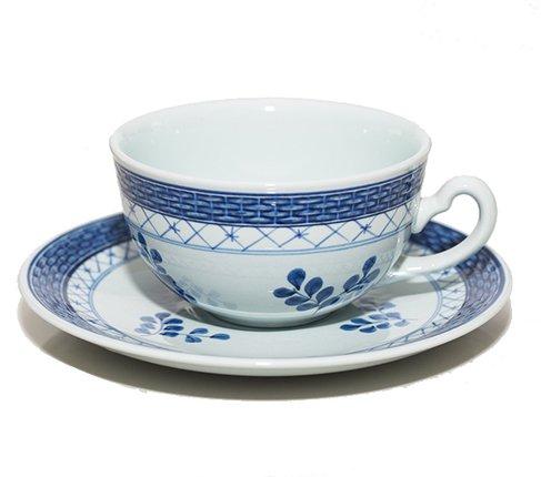 【美品】ロイヤルコペンハーゲン/ROYAL COPENHAGEN トランクェーバー/Tranquebar ブルー/Blue ティーカップ&ソーサー 957の写真No.2
