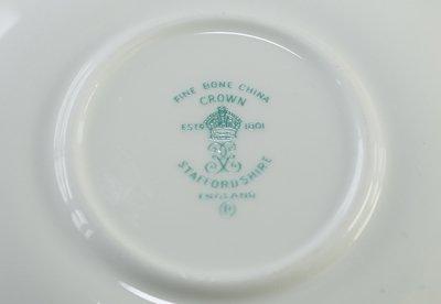 ◇クラウンスタッフォードシャー/Crown Staffordshire フローラル スカイブルー コーヒーカップ&ソーサーの写真No.5