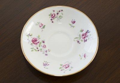 ◇クラウンスタッフォードシャー/Crown Staffordshire ピンクローズ/Pink Rose コーヒーカップ&ソーサー&プレート 3点セット(トリオ)の写真No.5