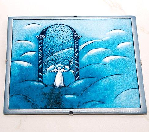 【送料無料】【美品】ARABIA アラビア ヘルヤ 25cm 陶板画 2000年天国の門 雑貨の写真No.2