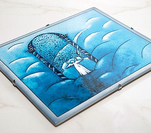 【送料無料】【美品】ARABIA アラビア ヘルヤ 25cm 陶板画 2000年天国の門 雑貨の写真No.3