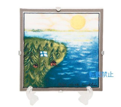 【送料無料】【美品】アラビア/ARABIA Helja Liukko Sundstrom フィンランド-私の故郷/Finland-My Homeland 陶板画 12cm/199…