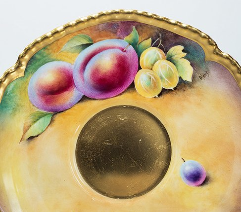 【送料無料】【美品】【最高級】ロイヤルウースター/Royal Worcester ペインテッドフルーツ/Painted Fruits カップ&ソーサーの写真No.6