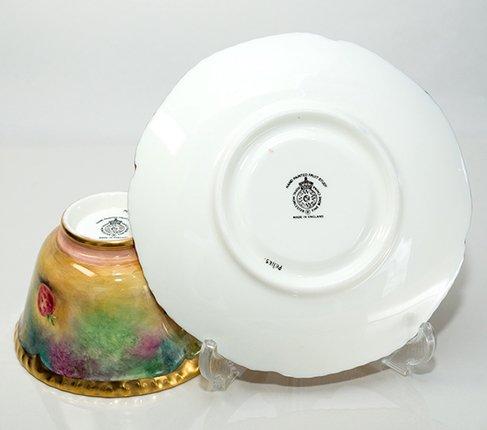【送料無料】【美品】【最高級】ロイヤルウースター/Royal Worcester ペインテッドフルーツ/Painted Fruits カップ&ソーサーの写真No.7