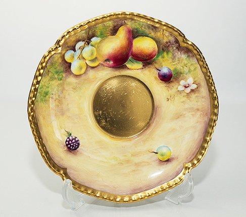 【送料無料】【美品】【最高級】ロイヤルウースター/Royal Worcester ペインテッドフルーツ/Painted Fruits カップ&ソーサーの写真No.5