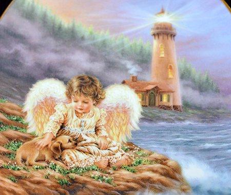 【美品】ドナ・ゲルシンガー/Dona Gelsinger 天使の光/An Angel's Light 優しさは魂を啓発する エンジェルプレートの写真No.2