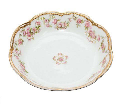 アビランド・リモージュ/Haviland Limoges ダブルゴールド ピンクローズ/Pink rose ボウル 13cmの写真