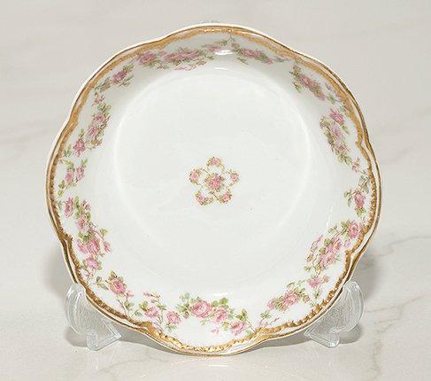 アビランド・リモージュ/Haviland Limoges ダブルゴールド ピンクローズ/Pink rose ボウル 13cmの写真No.2