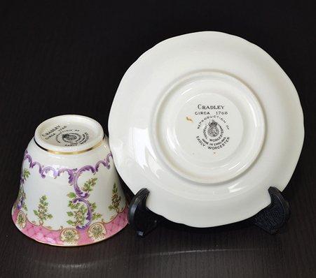 ロイヤルウースター/Royal Worcester クラッドリー/Cradley コーヒーカップ&ソーサー A1865の写真No.5
