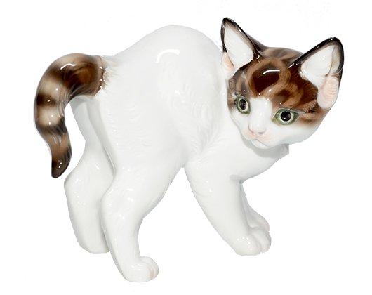 【送料無料】【レア】【美品】ローゼンタール/Rosenthal Th.KARNER フィギュリン 見つめる猫