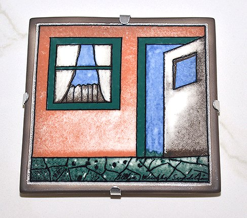 【送料無料】【美品】ARABIA アラビア ヘルヤ 12cm陶板画 1996年 歓迎 アラビア 雑貨の写真No.2