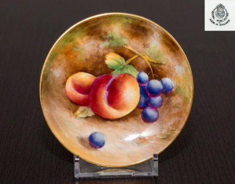 【セール】【送料無料】【レア】ロイヤルウースター ペインテッドフルーツ プレート 9cm Royal Worcester