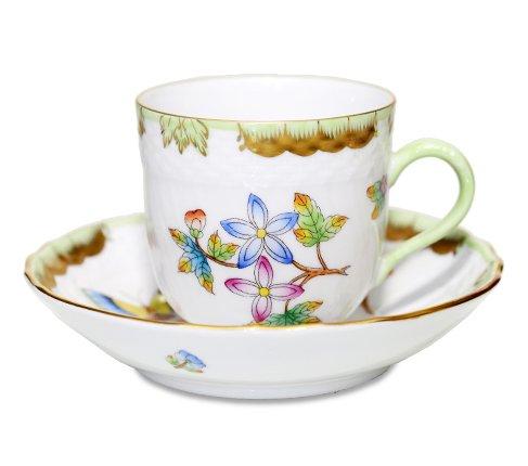 【送料無料】 【美品】ヘレンド ヴィクトリア VBO デミタスカップ&ソーサーの写真
