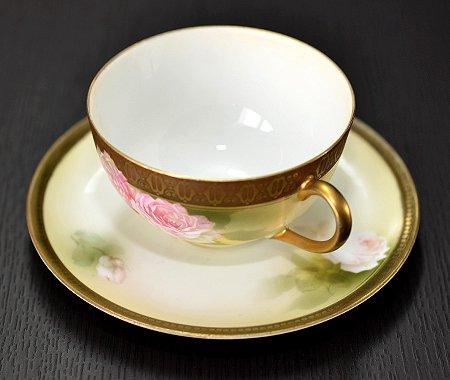 【送料無料】RS Prussia ローズ ティーカップ&ソーサー【アンティーク】【花柄】の写真No.3