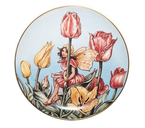 ボーダー Cicely Mary Barker 花の妖精 絵皿 チューリップ Borderの写真