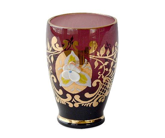 【送料無料】ベネチアンガラス(ムラノガラス) エンボス花文 デキャンタ&ショットグラス 6点セットの写真No.3