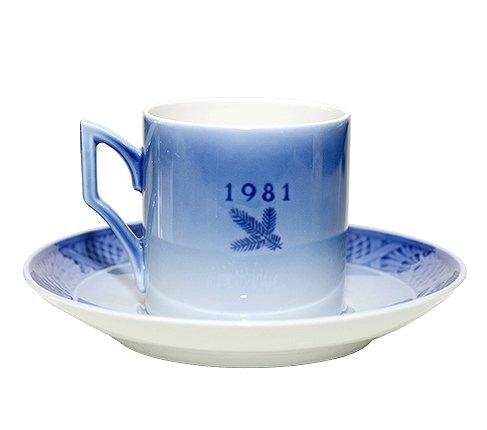 ROYAL COPENHAGEN ロイヤルコペンハーゲン イヤー カップ&ソーサー 1983年 コーヒーカップ &ソーサーの写真No.2