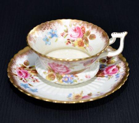 ハマースレイ ハンドペイント コーヒーカップ&ソーサー Hammersleyの写真No.2