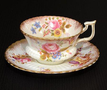 ハマースレイ ハンドペイント コーヒーカップ&ソーサー Hammersleyの写真