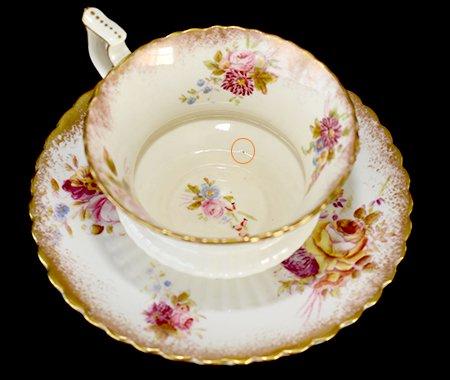ハマースレイ ハンドペイント コーヒーカップ&ソーサー Hammersleyの写真No.4