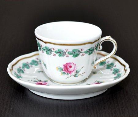 ◇リチャードジノリ ガーデンローズ デミタスカップ&ソーサー Garden roseの写真