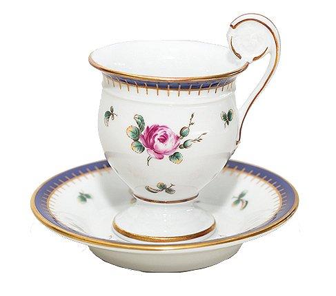 【送料無料】リチャードジノリ プリンセスローズ チョコレートカップ&ソーサー Princess Roseの写真