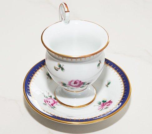 【送料無料】リチャードジノリ プリンセスローズ チョコレートカップ&ソーサー Princess Roseの写真No.2