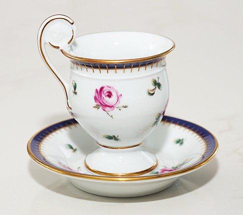 【送料無料】リチャードジノリ プリンセスローズ チョコレートカップ&ソーサー Princess Roseの写真No.3