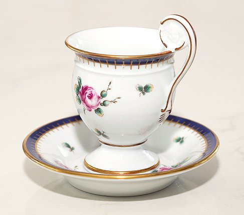 【送料無料】リチャードジノリ プリンセスローズ チョコレートカップ&ソーサー Princess Roseの写真No.4