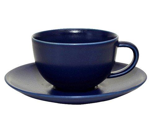 アラビア 24h ブルー ティーカップ&ソーサーの写真