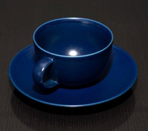 アラビア 24h ブルー ティーカップ&ソーサーの写真No.3