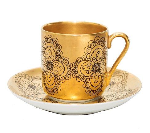 【送料無料】【希少】アラビア ギルダ デミタスカップ&ソーサー Gildaの写真