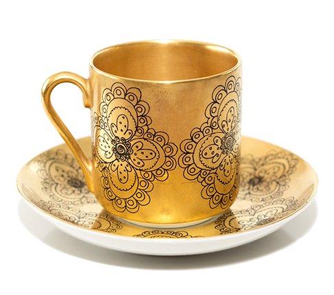 【送料無料】【希少】アラビア ギルダ デミタスカップ&ソーサー Gildaの写真No.2