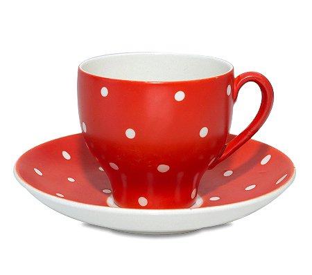 ゲフレ ウプサラエクビー アマニタ レッド コーヒーカップ&ソーサー Gefle Upsala Ekeby Amanitaの写真