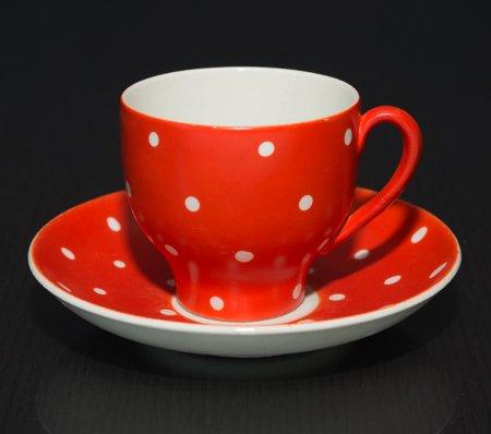 ゲフレ ウプサラエクビー アマニタ レッド コーヒーカップ&ソーサー Gefle Upsala Ekeby Amanitaの写真No.2