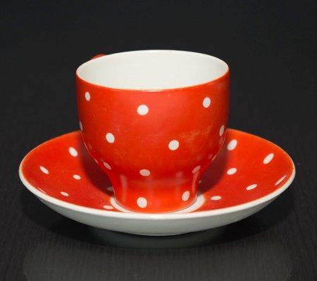 ゲフレ ウプサラエクビー アマニタ レッド コーヒーカップ&ソーサー Gefle Upsala Ekeby Amanitaの写真No.3